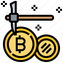 bitcoin, data, dig, mining, money