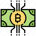 bank, currency, digital, finance, money icon