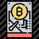 bitcoin, data, disk, hard, storage