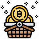 basket, bitcoin, buy, online, shopping icon