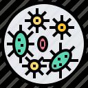 bacteria, germ, microorganism, pathogen, virus icon