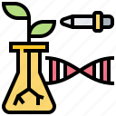 biotechnology, experiment, genetics, gmo, plant icon