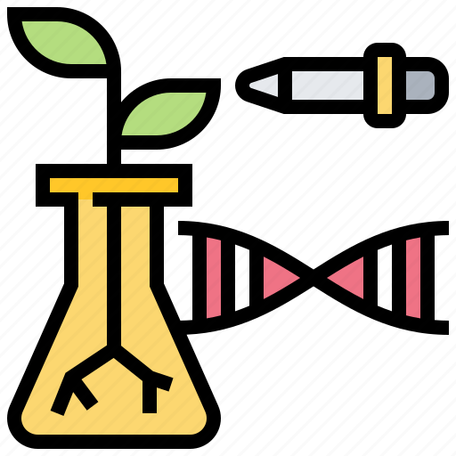 biotechnology, experiment, genetics, gmo, plant icon