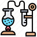 boiling, burner, chemical, distillation, experiments icon