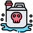 chemical, container, storage, tank, toxic icon