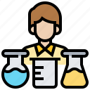 analyse, experiment, laboratory, scientist, test icon