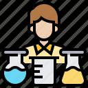 analyse, experiment, laboratory, scientist, test