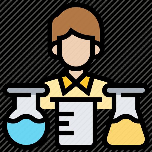 analyse, experiment, laboratory, scientist, test icon