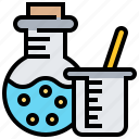 chemistry, experiment, glassware, instruments, science icon