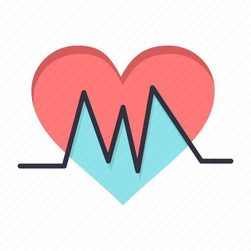 Heart, heartbeat, medical, pulse icon - Download on Iconfinder