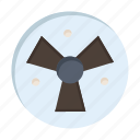 fan, medical, radiation, warining icon