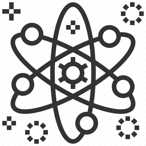 atom, biochemistry, chemistry, laboratory, research, science, structure icon