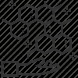 atom, biochemistry, chemistry, laboratory, molecular, science, structure icon