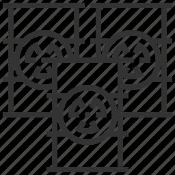 biochemistry, danger, radiation, sign, warning icon
