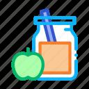 apple, biohacking, drink, healthy, jar