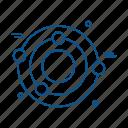 biology, lab, science, solar, system icon