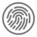 biometric, finger, fingerprint, password, protection, scan, secure icon