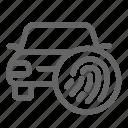 biometric, car, finger, fingerprint, scan, transport icon