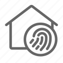 biometric, finger, home, scan icon