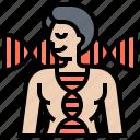 code, dna, genetics, identity, strand icon