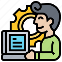 application, developer, programmer, software, technician icon