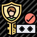 authentication, password, protection, security, verification