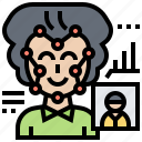 detection, facial, person, recognition, scan icon