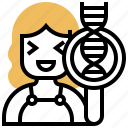 dna, helix, human, molecular, strand icon