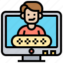 account, authentication, computer, permission, privacy icon
