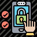 behavioral, biometric, customer, locked, smartphone