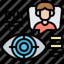 eye, identity, retinal, scan, vision