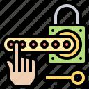 key, padlock, passcode, security, unlock