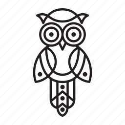 animal, bird, forest, nature, owl, wisdom icon