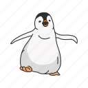 animal, aquatic bird, baby penguin, bird, flippers, penguin icon