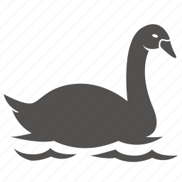 bird, duck, goose, swan, water icon