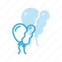 balloon, balloons, birthday, celebration, party icon