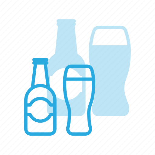 alcoholic, beer, beverage, birthday, bottle, celebration, glass icon