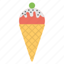 birthday party, ice cream party, ice cream treat, kids party, party treat icon