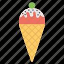 birthday party, ice cream party, ice cream treat, kids party, party treat icon