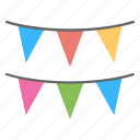 celebrating, decorating event, festivities, flat icon, party decorations icon
