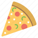 party snack, party treat, pizza party, pizza slice, pizza treat icon