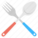 cutlery, dinner time, eating utensils, fork, spoon icon