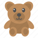 birthday present, party present, stuffed animal, stuffed toy, teddy bear icon
