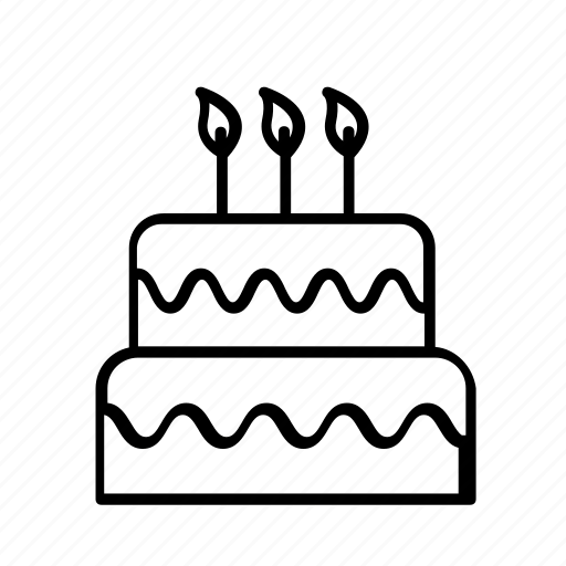 birthday, birthday cake, cake, celebrate, celebration, decoration, party icon