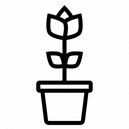 flower, nature, plant, pot, spring icon
