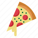 fast, food, piece, pizza, slice