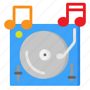 dj, music, sound, tune, turntable, vinyl icon
