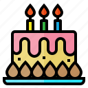 birthday, cake, candle, celebration, party icon