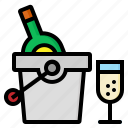 alcohol, bucket, champagne, party, wine icon