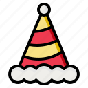 birthday, celebration, fun, hat, party icon
